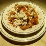 Mezze Maniche Integrali con Ragu' di Verdure e Ricotta Salata