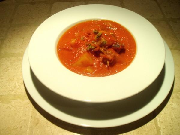 Crema di Pomodori con Seppioline e Patate