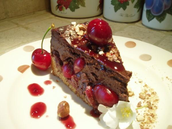 Cheesecake Cioccolato, Ciliegie e Nocciole