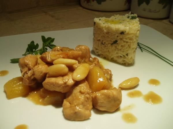 Pollo al Lime e Miele con Ananas e Mandorle e Riso allo Yogurt