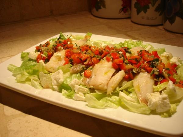 Filetti di gallinella in salsa gustosa