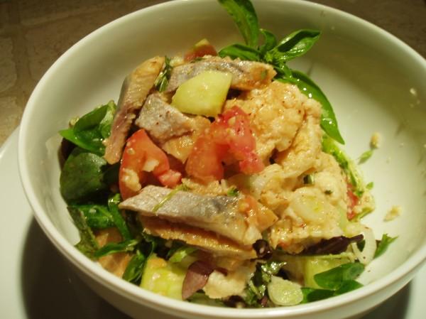 Panzanella con sarde profumata al basilico
