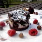 Bacio nel Bosco - Crumble al Cacao e Nocciole ripieno di Ricotta e Frutti di Bosco