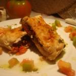 Persico ripieno di gusto scottato al salmoriglio