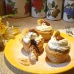 Cupcake alla Banana con cuore di Nutella e frosting alla Panna