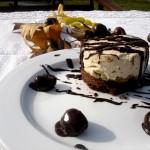 Torta cremosa alle castagne, mascarpone e cioccolato