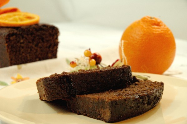 Cake au Chocolat et Orange confite 2