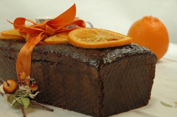 Cake au Chocolat et Orange confite