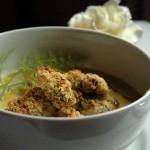 Crema di Sedano Rapa con Seppioline croccanti in Olio al Lime