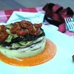 Lasagnetta di Verdure e Sgombro con Ragù di Peperone