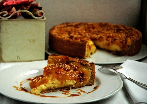 Tarte di Crema cotta e Ananas caramellato al Rum