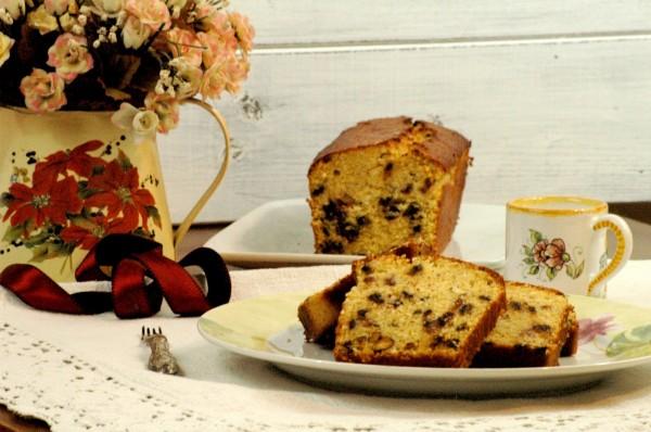 Cake al Mais e Cocco con Mirtilli rossi, Cioccolato e Pistacchi 2