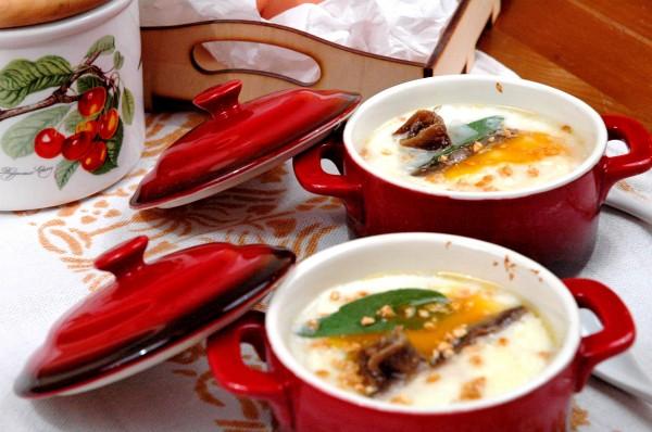 Uova in cocotte con Cavolfiore, Caciocavallo e Alici 2
