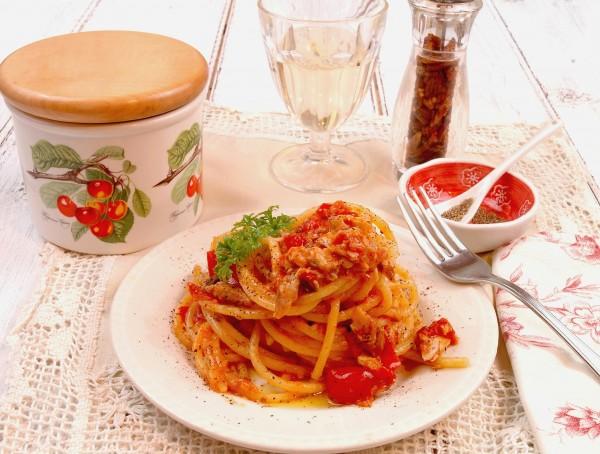 Spaghettoni all'Amatriciana di Scorfano e Pepe di Sarawak 2