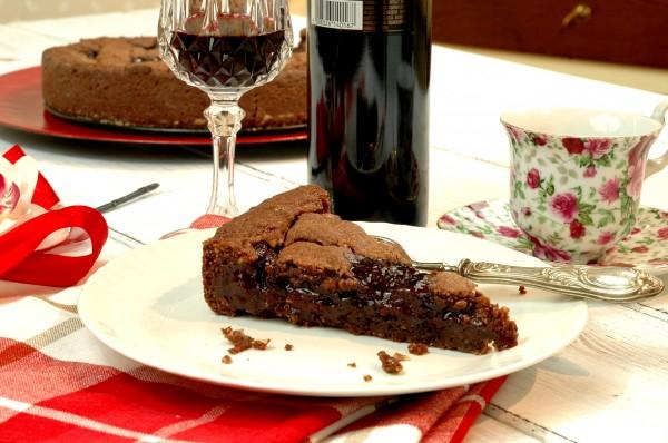 Crostata golosa al doppio Cioccolato, Ciliegie e Visciole 2