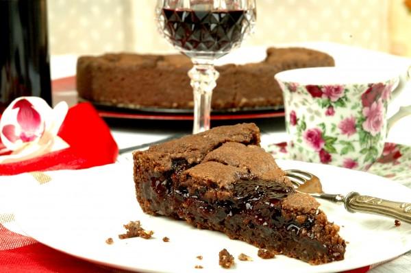 Crostata golosa al doppio Cioccolato, Ciliegie e Visciole